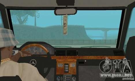Mercedes-Benz G500 1999 v. 1.1 kengurâtnikom para GTA San Andreas vista hacia atrás