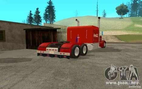 Peterbilt 379 Custom Coca Cola para la visión correcta GTA San Andreas