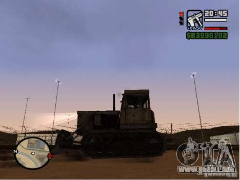 Bulldozer T 130 para GTA San Andreas left