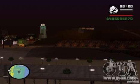 0,075 ENBSeries (agua) para GTA San Andreas quinta pantalla