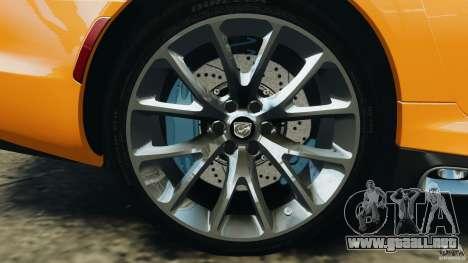 SRT Viper GTS 2013 para GTA 4 vista lateral