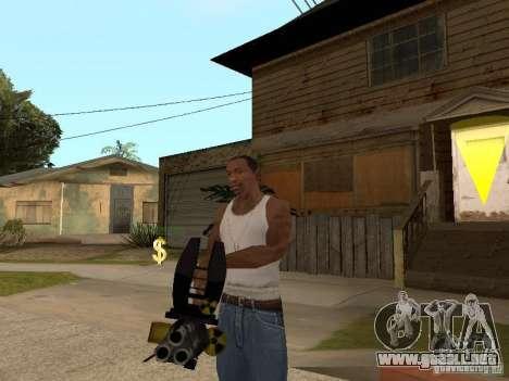 Minigun para GTA San Andreas segunda pantalla