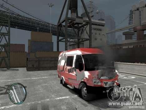 Gacela 2705 Telkomsel Van para GTA 4 vista hacia atrás