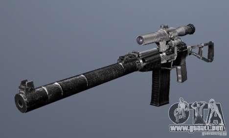 Como Rifle de asalto de Val para GTA San Andreas tercera pantalla