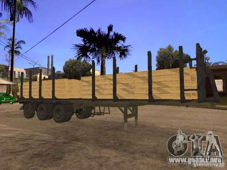 Remolque MAZ 99864 para vista lateral GTA San Andreas