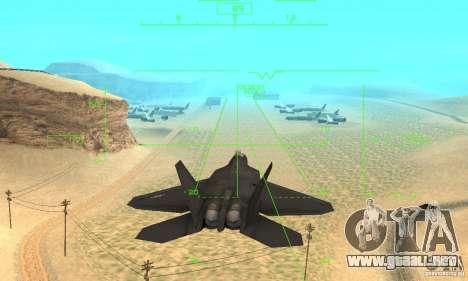 F-22 Black para la vista superior GTA San Andreas