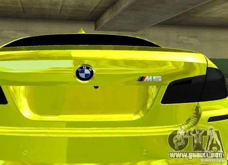 BMW M5 F10 Gold para la visión correcta GTA San Andreas