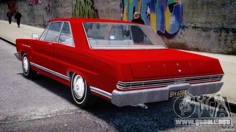 Ford Mercury Comet 1965 [Final] para GTA 4 vista superior