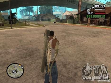 La vista estándar para GTA San Andreas