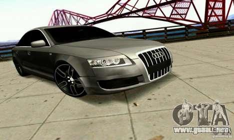 Audi A6 Blackstar para GTA San Andreas vista hacia atrás