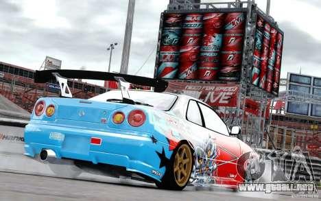 Nissan Skyline R34 Evil Empire para GTA 4 visión correcta
