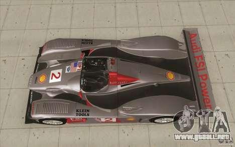 Audi R10 LeMans - Stock para la visión correcta GTA San Andreas