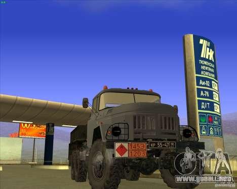 ZIL 131 petrolero para GTA San Andreas