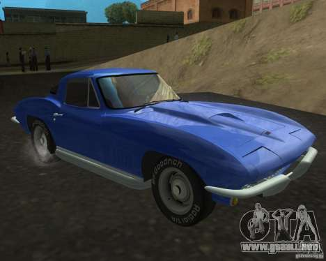 Chevrolet Corvette 427 para GTA San Andreas vista posterior izquierda