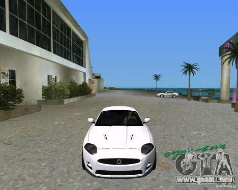Jaguar XKR S para GTA Vice City visión correcta