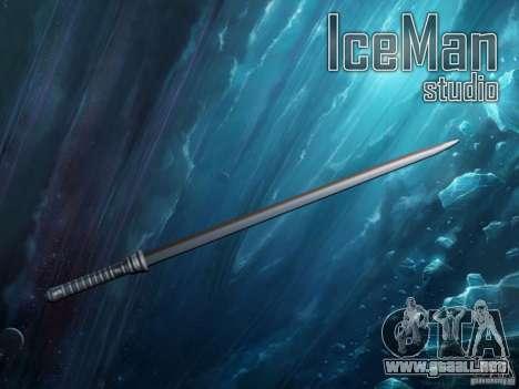 La espada de hoja para GTA San Andreas
