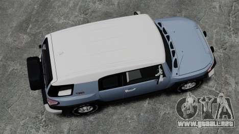 Toyota FJ Cruiser para GTA 4 visión correcta