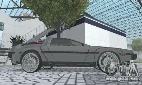 DeLorean DMC-12 (BTTF2) para la visión correcta GTA San Andreas