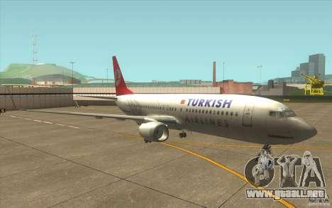 Boeing 737-800 THY para GTA San Andreas left