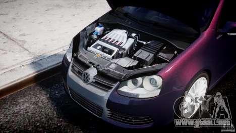 Volkswagen Golf R32 v2.0 para GTA 4 vista hacia atrás