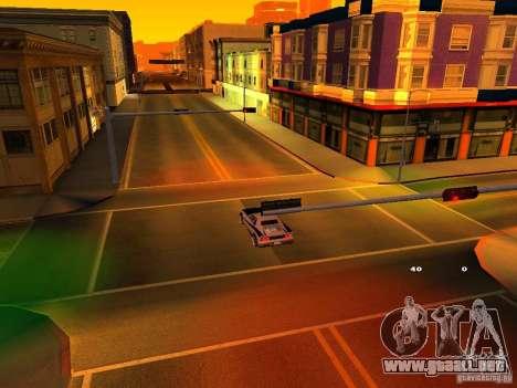 New Cheetah para visión interna GTA San Andreas