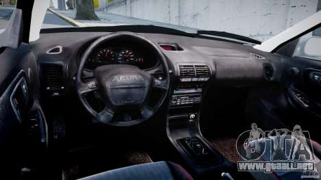 Acura Integra Type-R para GTA 4 vista hacia atrás