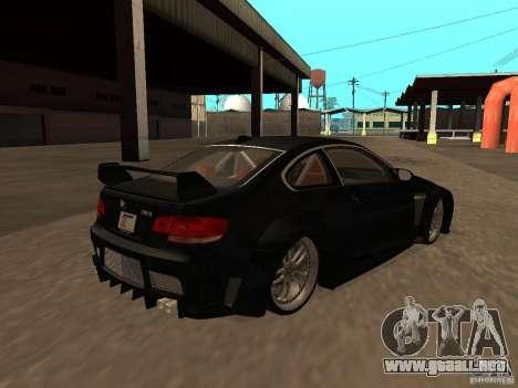 BMW M3 E92 Tunable para vista lateral GTA San Andreas