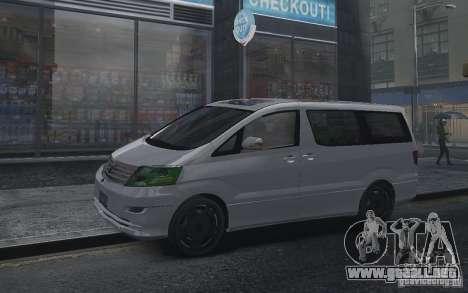 Toyota Alphard v2.0 para GTA 4 visión correcta