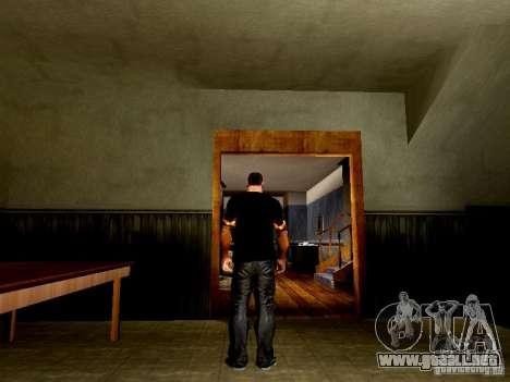 Camiseta negra con una calavera para GTA San Andreas tercera pantalla