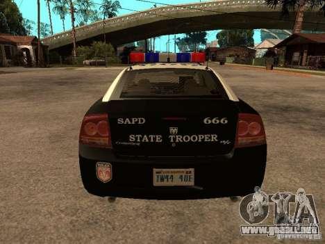 Dodge Charger RT Police para la visión correcta GTA San Andreas