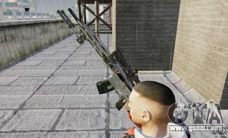 RSASS de MW3 (francotirador) para GTA 4 adelante de pantalla