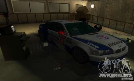 BMW M3 E46 TUNEABLE para visión interna GTA San Andreas