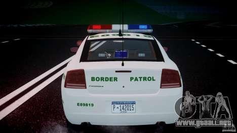 Dodge Charger US Border Patrol CHGR-V2.1M [ELS] para GTA 4 ruedas
