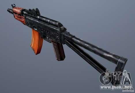 AKS74U para GTA San Andreas segunda pantalla