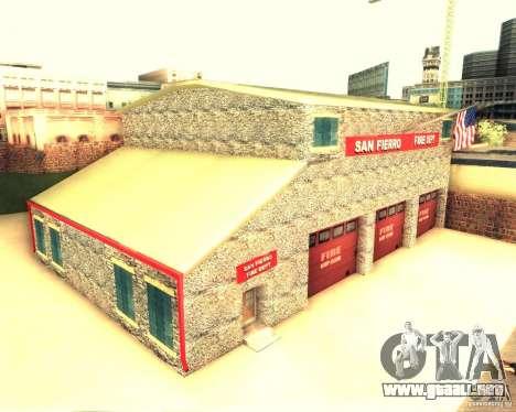 Una nueva estación de bomberos en San Fierro para GTA San Andreas segunda pantalla