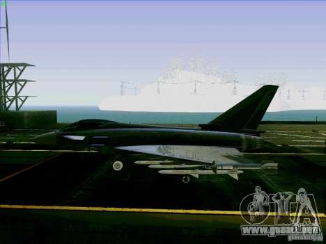 Eurofighter-2000 Typhoon para GTA San Andreas left