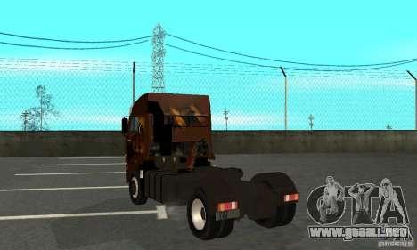 KAMAZ 5460 4 piel para la visión correcta GTA San Andreas