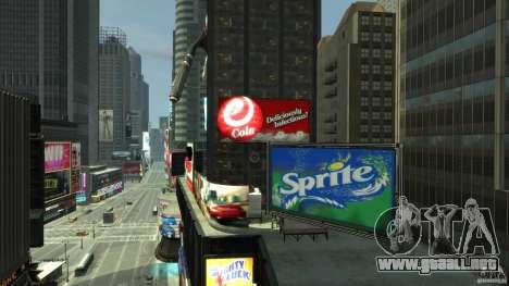 Real Time Square mod para GTA 4 adelante de pantalla