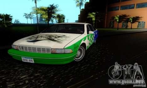 Chevrolet Caprice 1991 para visión interna GTA San Andreas
