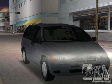 Dodge Grand Caravan para GTA Vice City vista posterior
