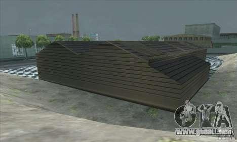 El garaje actualizado CJ en SF para GTA San Andreas quinta pantalla