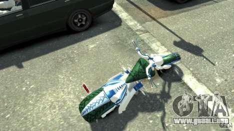 HellFire Chopper para GTA 4 Vista posterior izquierda