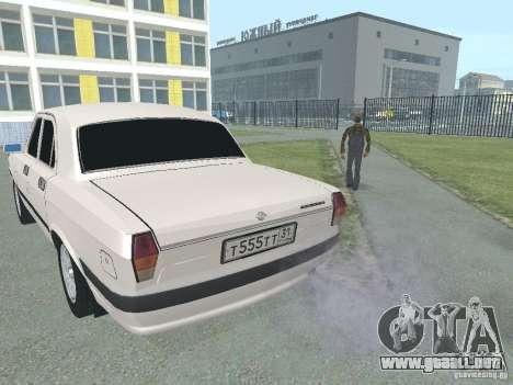Volga GAZ-24 105 para GTA San Andreas vista posterior izquierda