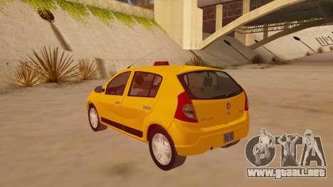 Renault Sandero Taxi para GTA San Andreas vista posterior izquierda
