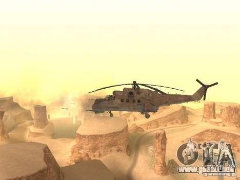 Mi-24P Desert Camo para GTA San Andreas vista hacia atrás