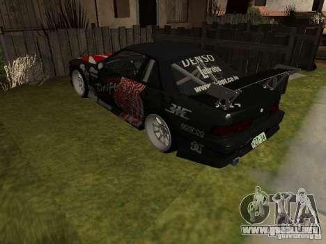 Nissan Silvia S13 JDM para GTA San Andreas vista posterior izquierda