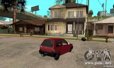 Fiat Uno Fire para la visión correcta GTA San Andreas