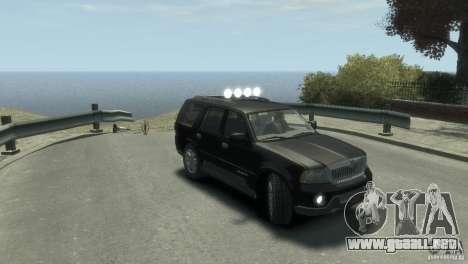 Lincoln Navigator para GTA 4 visión correcta