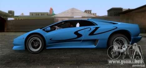 Lamborghini Diablo SV V1.0 para GTA San Andreas left