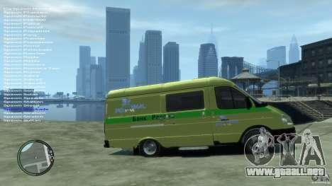 Servicios de transporte gacela 2705 para GTA 4 visión correcta